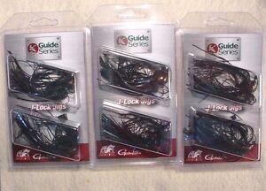 3 PACKS Jewel Bait Co G.S J-Lock 1/2 oz Multi JIGS 4/0 Gamakatsu Black & Blue