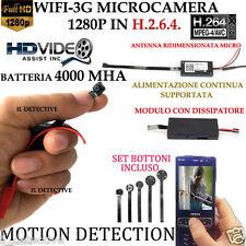 Spy Camera Spia WIFI HD CON DISSIPATORE TELECAMERA MICRO NASCOSTA MICROCAMERA