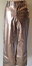 Currants Brand Faux Leather Bronze Brown Metallic Polyurethane Pants size 9 P7