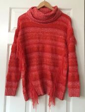 NWT Kensie Chunky Fringe Crowl Neck Sweater Size XS