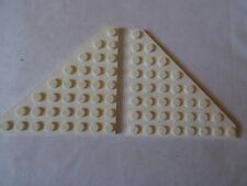 LEGO PART 30504  WHITE  8 x 8 WEDGE PLATE CUT CORNER x 2
