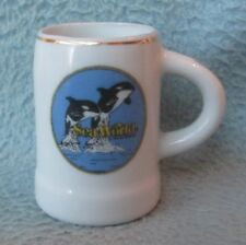 Shamu Killer Whale Sea World Souvenir Mini Mug Shot Glass