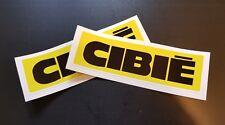 2 x Cibie Spot Lights Stickers Race & Rally Car Stickers. 140mm x 45mm