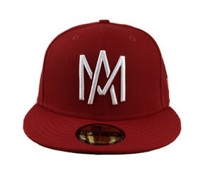 Aguilas De Mexicali New Era 59FIFTY Fitted Mexican Baseball League/ Red  cap hat