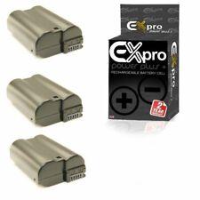 Ex-Pro Digital Camera Battery EN-EL15 ENEL15 for Nikon D7000 D7100 1 V1 x3