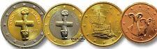 Série 8 pièces 1 Cent à 2 euro CHYPRE  2018  -  UNC