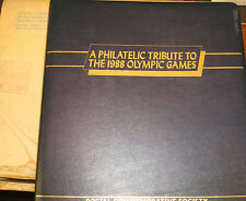 VINTAGE 1988 OLYMPIC GAMES STAMP SHEETS PHILATELIC TRIBUTE IN FOLDER  18 COUNTRY