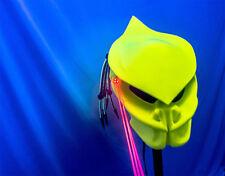 predator motorcycle helmet v5 glow n dark solid chartreuse fiber optic dreads