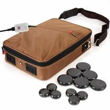 SereneLife Portable Hot Stone Massage Warmer Set & Spa Kit with Temperature C...
