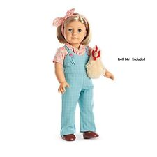 American Girl Kit's Chicken Keeping Set NIB Overalls Shoes Plush NO DOLL 2015 LE