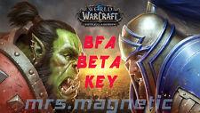 World of Warcraft WOW - BFA Battle for Azeroth - Beta Key - EU/US - Fast!