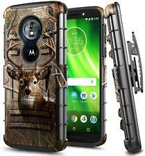 For Motorola Moto e5 (XT1920DL) Holster Case Belt Clip Phone Cover + Kickstand