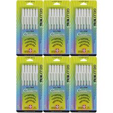 Sakura Gelly Roll Medium Point - 6 Sets of the 6pk WHITE Color Ink Pen Set