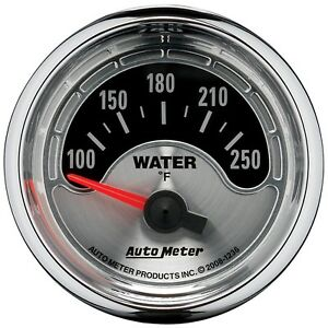"""AutoMeter 1236 American Muscle 2-1/16"""" Water Temperature 100-250 Degree"""