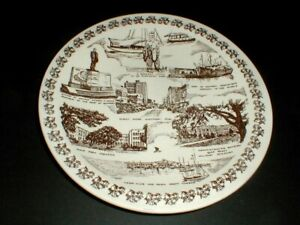 Vernon Kilns GULFPORT MISSISSIPPI MS Tourist Site Souvenir Plate (77F)