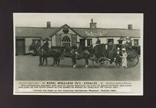 Dumfries King William IV's Coach Gretna Green Series c1928 RP PPC coaching
