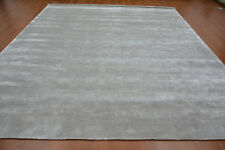 Handmade Hand Woven Knotted Soft Tencel Lyocell Silk Stain-proof Carpet Area Rug