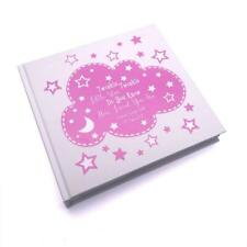 Personalised Baby Girl Photo Album Keepsake Gift Boxed Twinkle Star FLPV-19