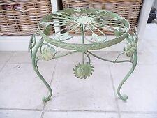 Nostalgie Blumentisch Beistelltisch Grün Schmiedeeisen 38 cm Retro Antikstil Neu