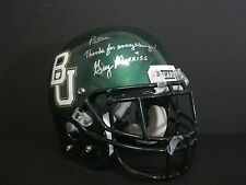 BAYLOR BEARS AUTHENTIC FOOTBALL HELMET SIGNED BY HEAD COACH GUY MORRISS