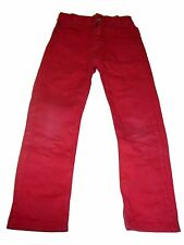 H & M tolle Jeans Hose Gr. 122 rot !!
