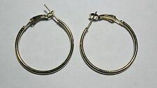 Bijou fantaisie : boucles d'oreille créoles dorées  - diam 3 cm