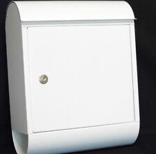 Mefa Briefkasten TOPAZ (844) Verkehrsweiß mit integrierter Zeitungsbox