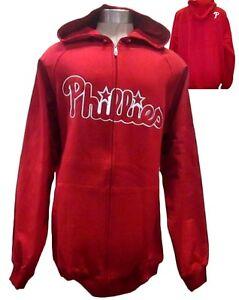 Philadelphia Phillies MLB Men Red Full-Zip Thermal Base Jacket