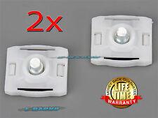 2x MERCEDES W201 W126 W124 300CE E320 WINDOW REGULATOR SLIDER CLIPS 1267200142