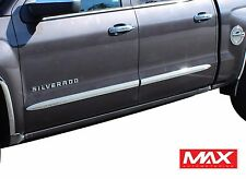 BS104 Universal Chrome Side Door Body Molding Trim - 41 inch - 1 Pair
