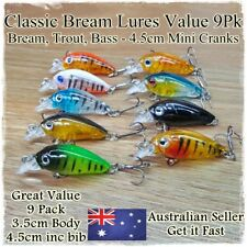 9pcs Fishing Lures Bream Bass Trout Redfin Perch Cod Flathead Whiting Tackle
