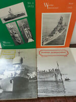 Warship International Journal Magazine Lot of 4 Issues 1972 & 75 - Modeling