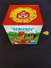 "Vintage Toys ""R"" Us ""GEOFFREY"" Jack in the Box Giraffe Plush Tin Toy RARE! HTF"
