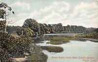Piqua Ohio~Miami River From Main Street Bridge~Picket Fence~1907 Postcard