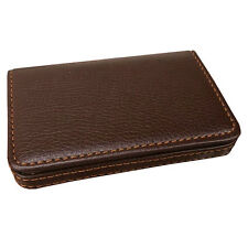 Luruxy Mens Coffee Pocket PU Leather Business ID Credit Card Holder Case Wallet