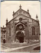 Italie, Cathédrale Santa Maria Matricolare de Vérone Vintage albumen print.  T