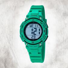 Reloj Calypso digital K5669/3 Correa de caucho verde detalles negros