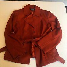 Isabella Suits Women Coat, Size 12, Orange, belted