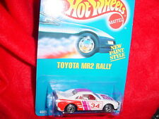 HOT WHEELS #233 TOYOTA MR2 RALLY WITH UH RIMS BLUE CARD FREE USA SHIPPING