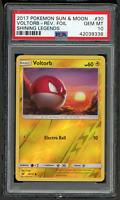 2017 Pokemon Sun & Moon Shining Legends 30 Voltorb-Rev. Foil-PSA 10 GEM MINT 💎
