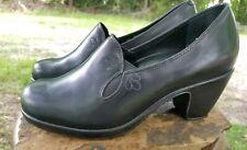 Dansko Beatrix Black Leather Heels Shoes Size 36 Attractive Appearance Women's Shoes