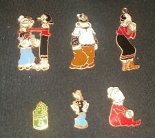 Popey Olive Oyl Bluto Sweat Pea Vintage Collector Trading Pin Charm Key Chain