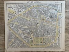 1889 BERLIN CITY PLAN ORIGINAL ANTIQUE MAP BY LETTS, SON & Co. 131 YEARS OLD