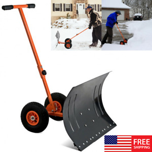 Kapler Rolling Snow Pusher,29 X19 Large Push Snow Shovel with ...