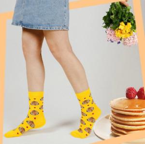 Women Pancake Crepe Socks/Gift Socks/Novelty Socks/Funny Socks