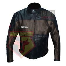 HONDA 5525 BROWN MOTORBIKE COWHIDE LEATHER MOTORCYCLE BIKERS ARMOURED JACKET