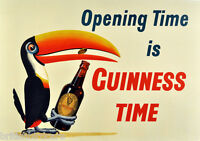 GUINNESS POSTER #1 Very Rare Quality re-Print from Original Choose your size