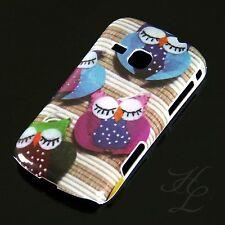 Samsung Galaxy Mini 2 S6500 Hard Case Handy Hülle Etui Motiv Schlaf Eule Owl