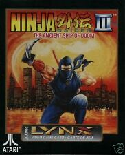 NINJA GAIDEN III Atari Lynx NEW Factory Sealed PA2092