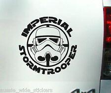 Star Wars Stormtrooper Vinyl Car 4x4 Decal Stickers suit JDM Ute 200 x 200mm